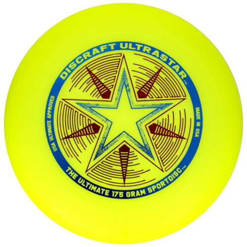 Yellow Discraft Ultra-Star 175g Ultimate Frisbee Disc