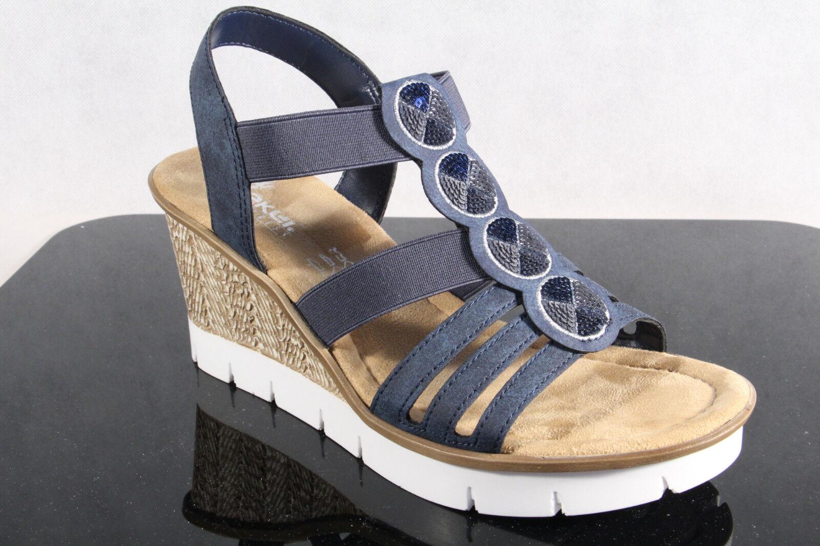 Rieker Damen Sandale Sandalette Sandalen NEU Sling blau 65515 NEU Sandalen 3cf572