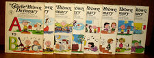 SIGNED Charles M Schulz The Charlie Brown Dictionary Complete 8 Volume Set HC