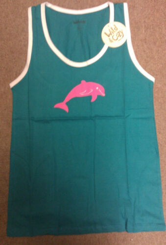 100/% cotton lightweight Adult size Xtra small Pink Dolphin Tank Top