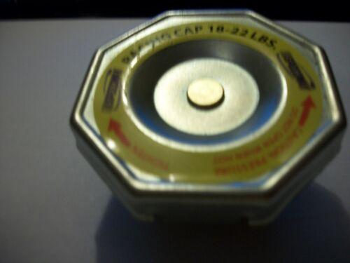RATING SPEEDWAY UNIVERSAL FIT STEEL HIGH PRESSURE RACING RADIATOR CAP 18-22 LBS