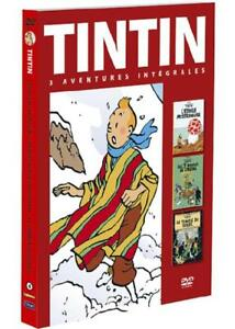 Tintin-Tim-3-Aventures-Flug-4-7-Kristall-Kugeln-Le-Temple-Du-Sonne-DVD-Neu
