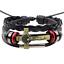 Fashion-Men-Black-Leather-Belt-Bronze-Jesus-Beads-Bangle-Bracelet-Wristband-Gift thumbnail 2
