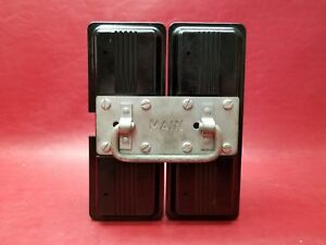 federal fuse box fpe federal pacific main fuse block pullout lid 102 2 pole 100 amp  main fuse block pullout lid 102 2 pole