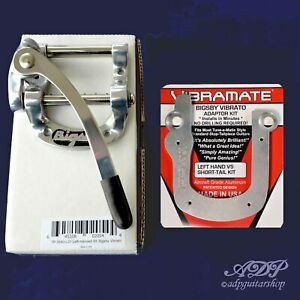 Vibrato-Bigsby-B5-Gaucher-Vibramate-Short-V5-ST-LH-Montage-Sans-Percage-Lefty