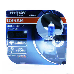 2x-OSRAM-H11-PGJ19-2-55W-12V-COOL-BLUE-ADVANCE-5000K-XENON-EFFECT-HYPER