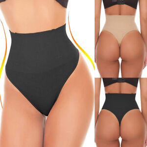 US-Body-Shaper-Sexy-Thong-G-String-High-Waist-Tummy-Control-Invisible-Shapewear