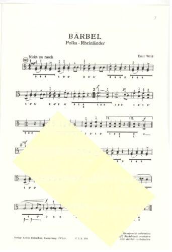 Griffschrift diat diatonische Handharmonika Noten Lustige Volksmusikanten 5