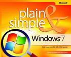 Windows 7 Plain and Simple by Gerald G. Joyce, Marianne Moon (Paperback, 2009)