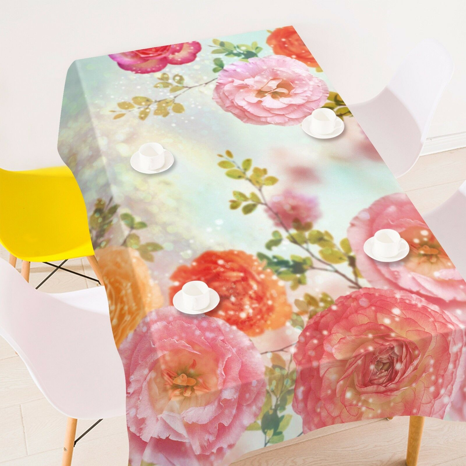 3D Flowers 64 Tablecloth Table Cover Cloth Birthday Party AJ WALLPAPER Lemon