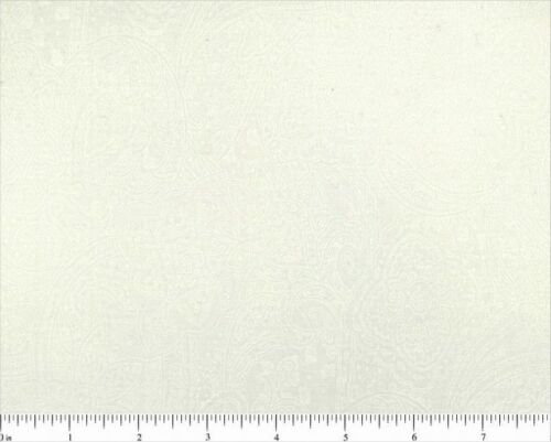 """BTY SUBTLE PAISLEY 100/% COTTON WHITE108/"""" EXTRA WIDE QUILT BACKING 49662-100"""