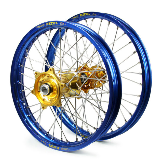 HONDA CRF450X 2006 WHEEL SET BLUE EXCEL SNR MX RIMS GOLD TALON HUBS 21/18x2.15