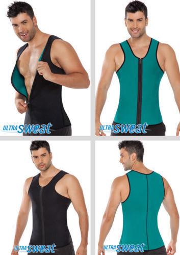 Herren Ultra Sweat Thermo Muskeltop doppelseitig Camiseta termica FAJAS