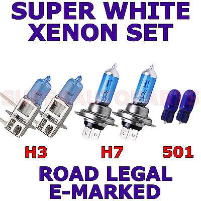 VAUXHALL ZAFIRA 1999-ON   SET  H7  SUPER WHITE  XENON LIGHT BULBS