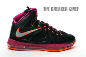 factory price de35e 368f0 Image is loading NIKE-LEBRON-X-MENS-BASKETBALL-SHOES-SIZE-10-