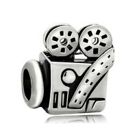 Cinema Movies Lover Hollywood Film Video Camera Charm F/european Bracelet Chain