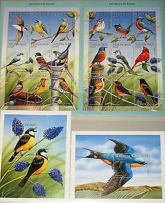 Burkina Faso 1998 Klb 1558-68 Block 178-79 Birds Vögel Fauna Singvögel Mnh Hell In Farbe Burkina Faso
