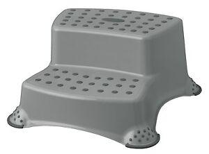 Sgabello scalino sgabello due scaline fino kg grigio ebay