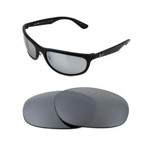 d2449dbbb9 NEW POLARIZED REPLACEMENT SILVER ICE LENS FIT RAY BAN RB4075 61MM ...