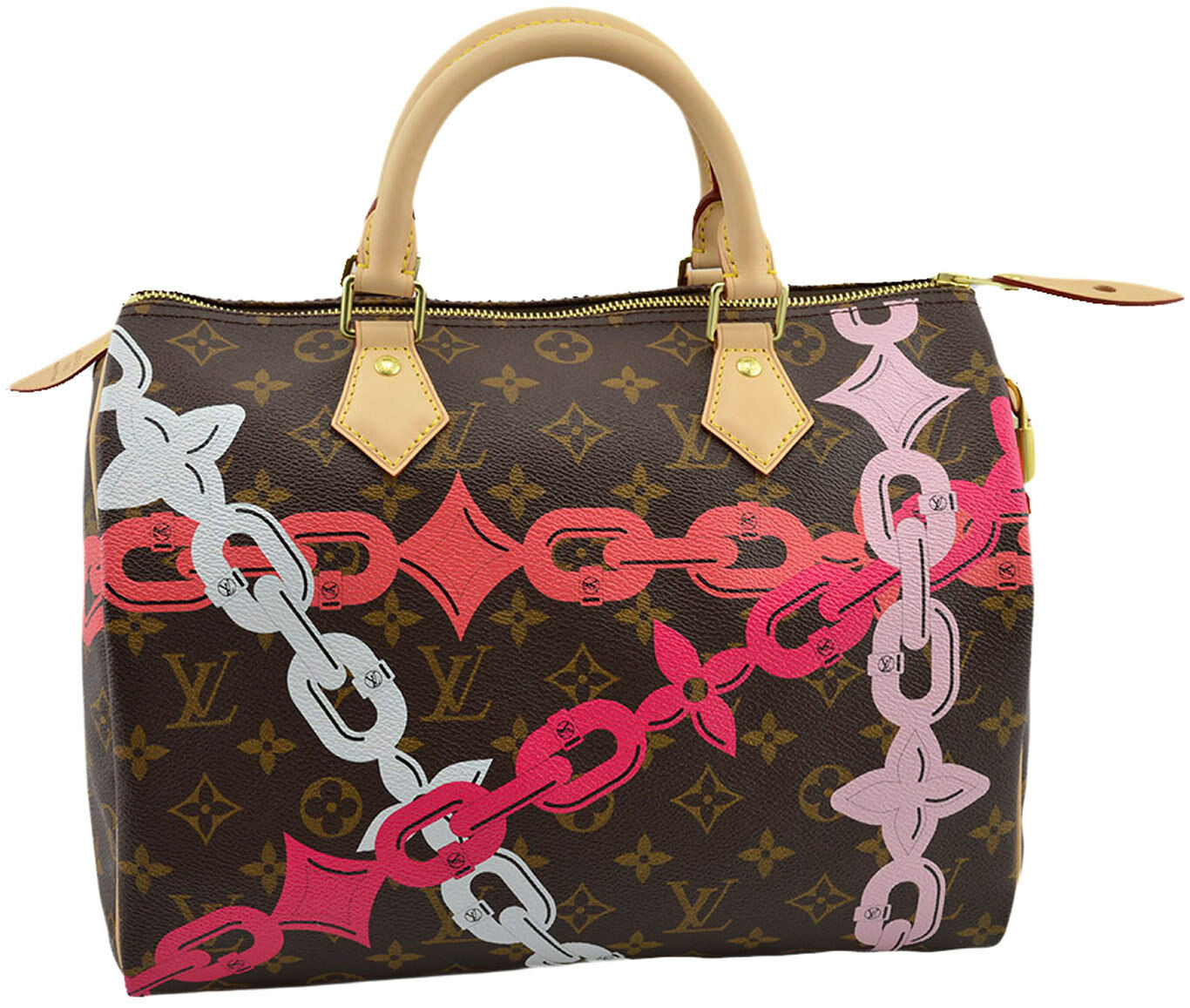 812f6f67e19 Details about LOUIS VUITTON Speedy 30 MONOGRAM BAY Shopper Tote Bag LIMITED  EDITION