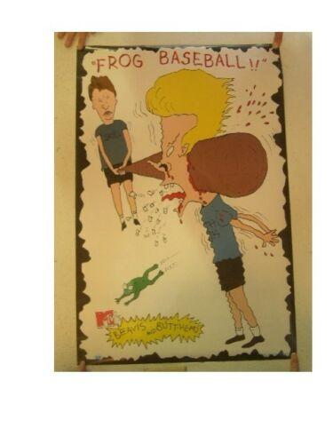 Beavis And Butthead Poster Butt Head Frog Baseball /& Sporting Wood Huh Huh Huh