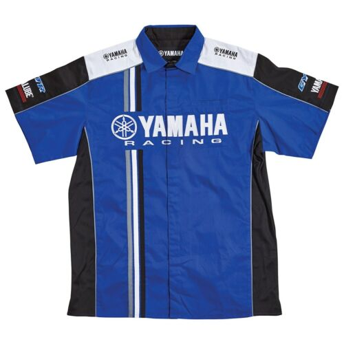 Yamaha 2017 Men/'s Yamaha Racing Pit Lane Shirt in Yamaha Blue-Size X-Large-New