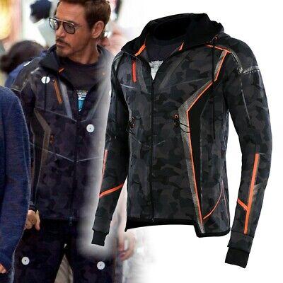 Infinity War Avengers Tony Stark Iron Man Camouflage Jacket with Hood