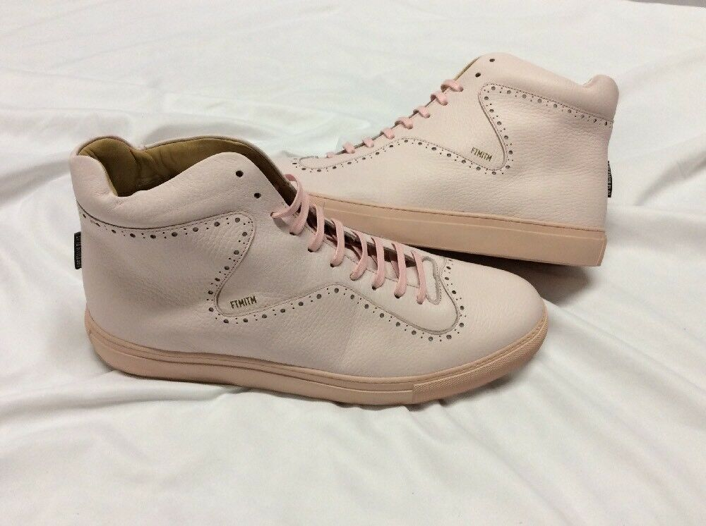 Freeman Plat COURT MID Men's Leather  Boot  SNEAKERS shoes Size 13 PINK