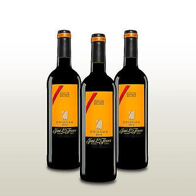 3 Fl. Jose L. Ferrer Crianza 2013, Rotwein trocken Spanien, Wein von Mallorca!