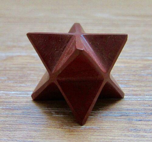Red Jasper Star Point Merkaba Stone Healing Natural Rock Reiki Energy Handmade