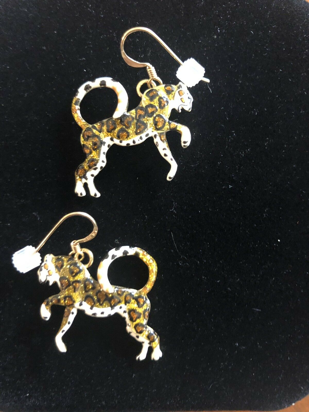 Lunch At The Ritz CHEETAHS Earrings