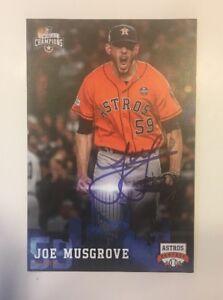 JOE MUSGROVE Signed Autographed Baseball Postcard Houston Astros FanFest