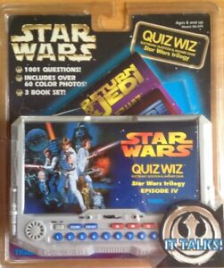 Details about STAR WARS VINTAGE RARE QUIZ WIZ BY TIGER ELECTRONIC QUESTION  & ANSWER GAME SEALE