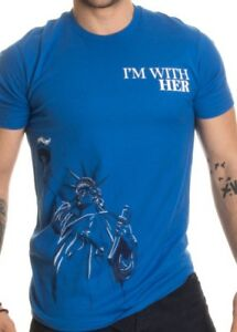 56608671ba72 NEW Men's Statue Of Liberty I'm With Her Political Patriotic USA T ...