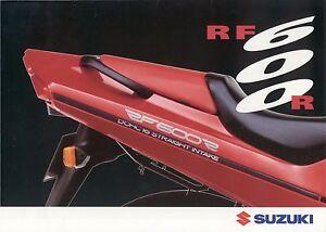 AgréAble Prospectus Suzuki Rf 600 R 1993