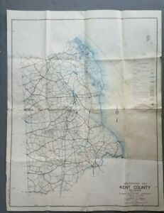 Details about 1960 Kent County Delaware Road Maintenance Map on midland county interactive map, vilas county wi snowmobile map, kent trails map, kent island road map, kent united kingdom map, east providence road map, kent delaware state map, new haven road map, kent uk map, clayton road map,