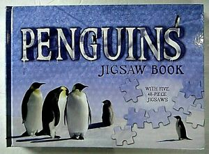 Penguins Jigsaw Book with Five 48-Piece Jigsaws (2009 Hardcover) -new