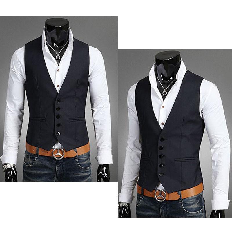 Herren Freizeit Anzugweste Formal Kleidung Vest Weste Anzug Tuxedo Mantel Jacke | eBay