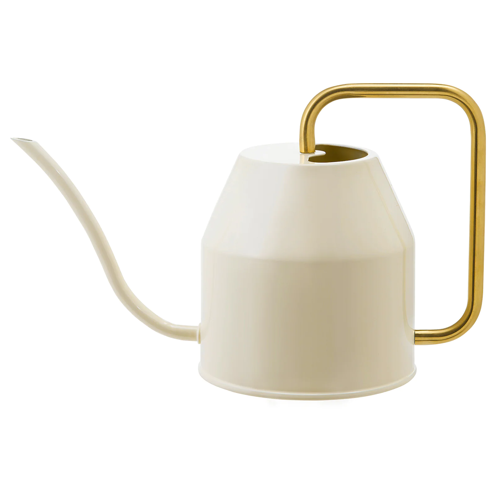 VATTENKRASSE Watering can, ivory/gold-colour0.9 l