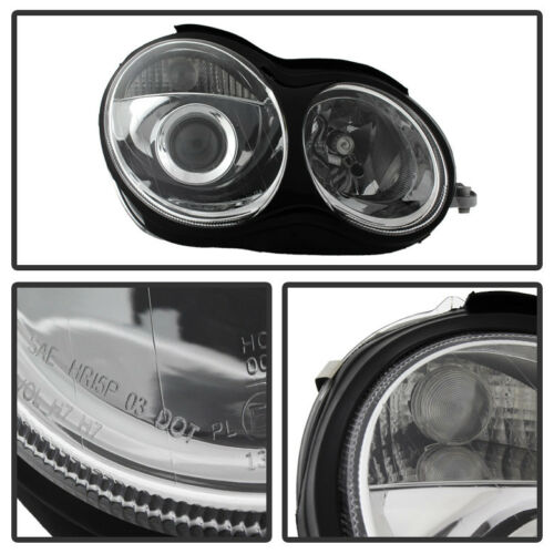 2001-2007 Mercedes Benz W203 C230 C240 C320 Projector Headlights Factory Style