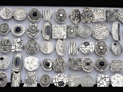 5pcs Retro Wholesale Fashion Lots Bulks Tibet Silver P Vintage Enamel Rings