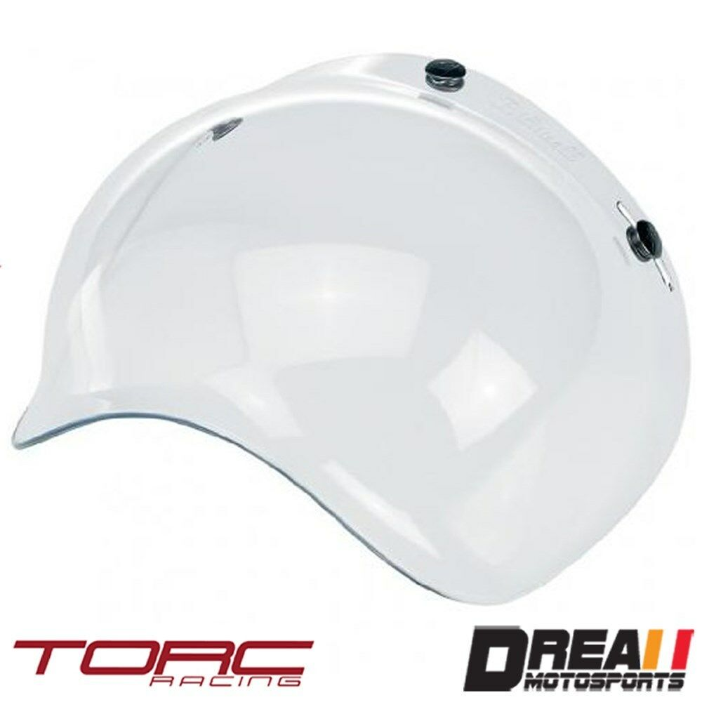 Torc Route 66 T50 3 Snap Replacement Bubble Shield Clear