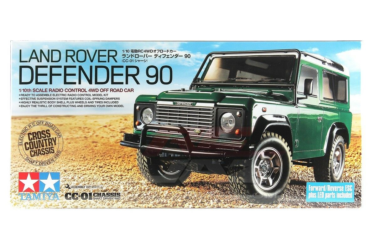 Tamiya 58657 1 10 RC 4WD Camión Kit CC01 Chasis Land Rover Defender 90 con ESC + LED