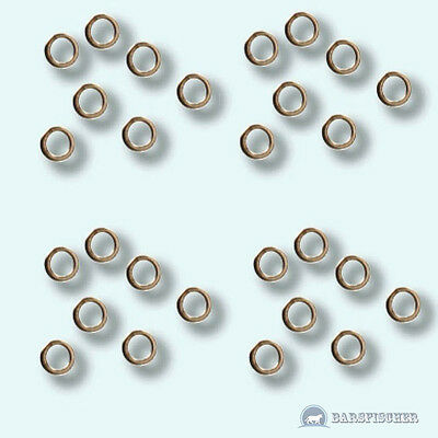 PüNktlich 15 StÜck Contact Ring Drop Shot Ringe ∅1,8/2,4/3,0mm Edelstahlring Rings Neu