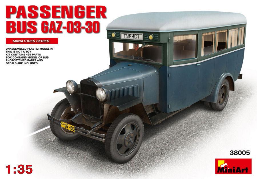 Passenger Bus Gaz-03-30 Plastic Kit 1 35 Model MINIART
