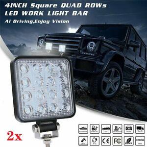 2 X 12V/24V LED Work Light Flood Spot Lights Driving Lamp Offroad Car Truck ATV