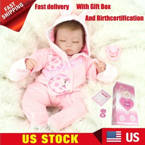 Lifelike 16 Baby Girl Reborn Doll Handmade Soft Vinyl Silicone Birthday Gifts