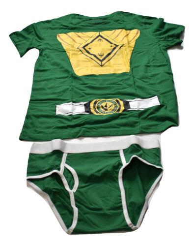 Underoos Mens Mighty Morphin Power Rangers Green Underwear Shirt /& Brief Set NIB