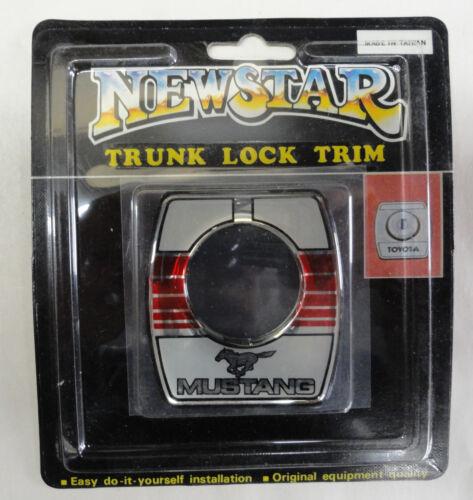 Vintage 80/'s 90/'s Automotive Trunk Lock Scratch Guard Accent Trim MUSTANG