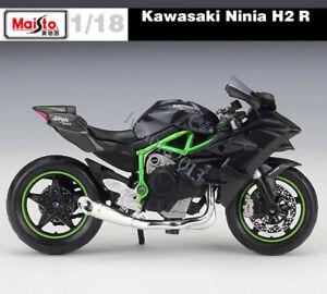 MAISTO-DIECAST-KAWASAKI-NINJA-H2R-MOTO-Modele-echelle-1-18-cadeau-d-039-anniversaire